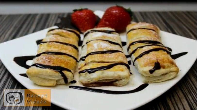 5 perces gyümölcsös-nutellás tésztacsoda - Recept videók