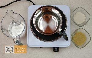 Málnás parfé recept, málnás parfé elkészítése 2. lépés