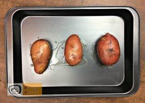 Héjában sült töltött krumpli recept elkészítése 1. lépés