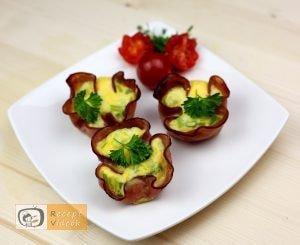 Sonkás tojás muffin recept, sonkás tojás muffin elkészítése - Recept Videók