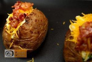 Héjában sült töltött krumpli recept elkészítése 4. lépés