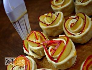 Alma rózsák recept, alma rózsák elkészítése 4. lépés