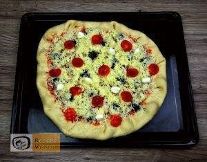 Flóra pizzája recept, Flóra pizzája elkészítése 4. lépés