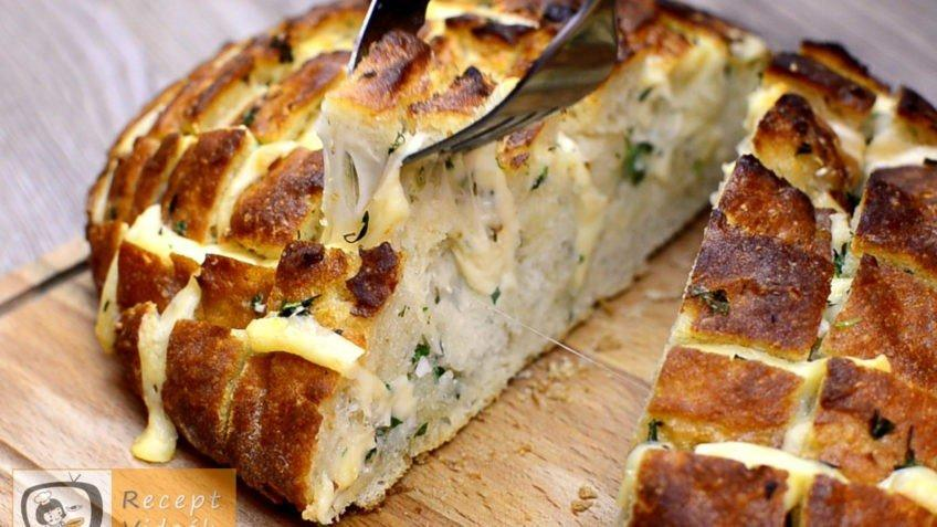 Sajtos fűszeres töltött kenyér recept, sajtos fűszeres töltött kenyér elkészítése - Recept Videók