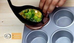 Sonkás tojás muffin recept, sonkás tojás muffin elkészítése 3. lépés