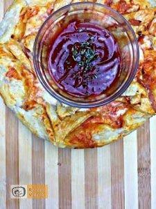 Pizza koszorú recept, pizza koszorú elkészítése - Recept Videók