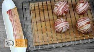Baconös húsgolyó recept, baconös húsgolyó elkészítése 4. lépés