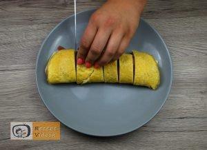 Csiga tojástekercsből recept, csiga tojástekercsből elkészítése 5. lépés