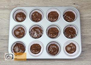 Panda muffin recept, panda muffin elkészítése 2. lépés