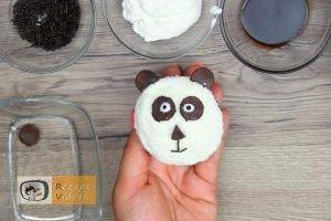 Panda muffin recept, panda muffin elkészítése 7. lépés
