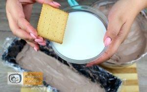 Kekszes jégkrémtorta recept, kekszes jégkrémtorta elkészítése 6. lépés