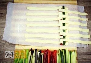 Zöldséges pite recept, zöldséges pite elkészítése 5. lépés