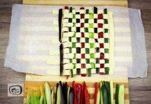 Zöldséges pite recept, zöldséges pite elkészítése 6. lépés