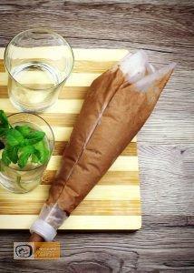 Étcsokoládés menta palánta recept elkészítése 6. lépés