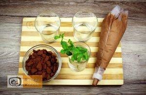 Étcsokoládés menta palánta recept elkészítése 7. lépés