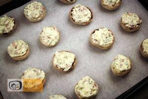 Sajtkrémmel töltött gomba recept, sajtkrémmel töltött gomba elkészítése 6. lépés