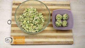 Sajtos cukkinigolyó recept, sajtos cukkinigolyó elkészítése 4. lépés