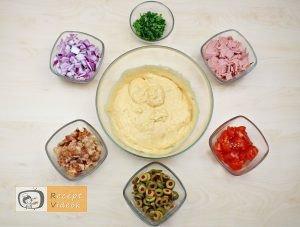 Rusztikus mediterrán kenyér recept, rusztikus mediterrán kenyér elkészítése 2. lépés