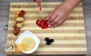 Hotdog kígyócskák recept, hotdog kígyócskák elkészítése 11. lépés