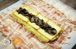 Baconbe tekert krumpli rolád recept elkészítése 12. lépés