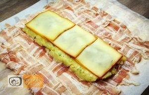 Baconbe tekert krumpli rolád recept elkészítése 13. lépés
