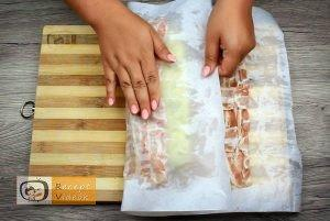 Baconbe tekert krumpli rolád recept elkészítése 17. lépés