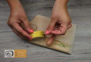 Csiga tojástekercsből recept, csiga tojástekercsből elkészítése 6. lépés