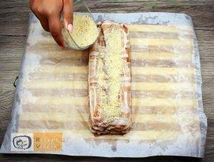 Baconbe tekert krumpli rolád recept elkészítése 20. lépés