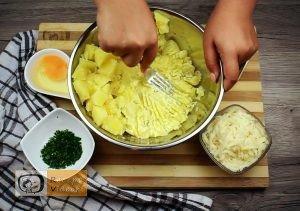 Baconbe tekert krumpli rolád recept elkészítése 1. lépés