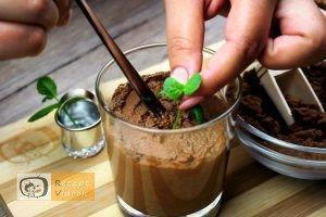 Étcsokoládés menta palánta recept elkészítése 9. lépés