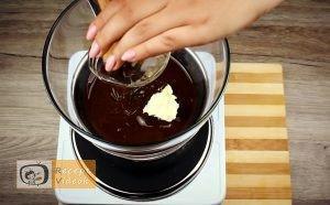 Étcsokoládés menta palánta recept elkészítése 3. lépés