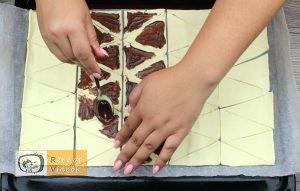 Mogyorókrémes minikiflik recept, mogyorókrémes minikiflik elkészítése 3. lépés