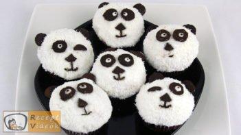 Panda muffin recept, panda muffin elkészítése - Recept Videók