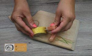 Csiga tojástekercsből recept, csiga tojástekercsből elkészítése 7. lépés