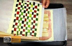 Zöldséges pite recept, zöldséges pite elkészítése 9. lépés