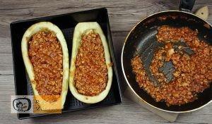 Darált hússal töltött padlizsán recept elkészítése 4. lépés