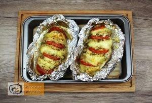 Pestos csirke mozzarellával recept elkészítése 4. lépés