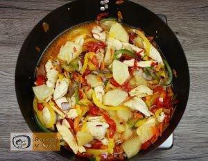 Kínai édes-savanyú csirke recept elkészítése 3. lépés