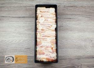 baconbe göngyölt túrós csusza recept elkészítése 4. lépés