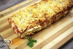 baconbe göngyölt túrós csusza recept elkészítése 6. lépés