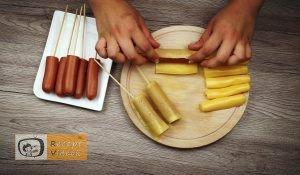 Palacsinta tésztás baconös virsli recept elkészítése 2. lépés