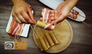 Palacsinta tésztás baconös virsli recept elkészítése 3. lépés