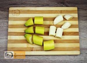 mogyorókrémes banánkoszorú recept elkészítése 1. lépés