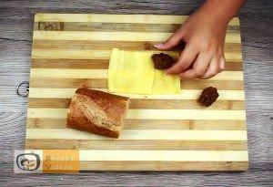 Fasírttal töltött bagett recept, fasírttal töltött bagett elkészítése 3. lépés
