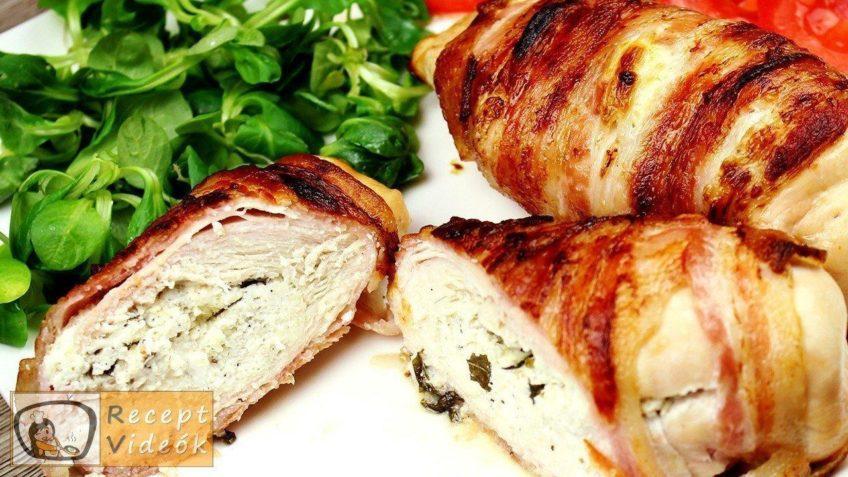 Csirkemell receptek: Bazsalikomos fetasajttal töltött csirkemell elkészítése - Recept Videók