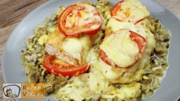Sajtos-gombás csirkemell recept, sajtos-gombás csirkemell elkészítése - Recept Videók