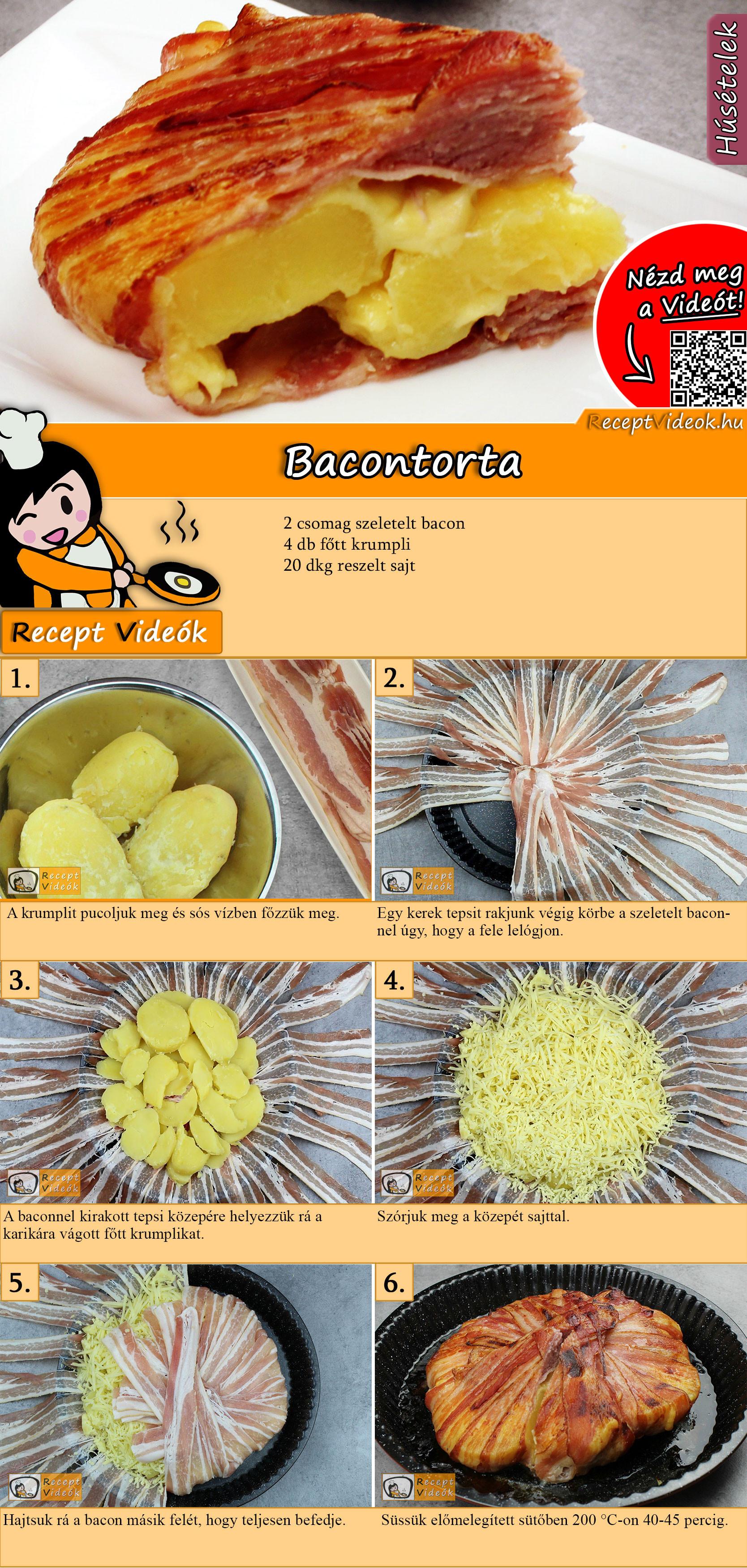 Bacontorta recept elkészítése videóval