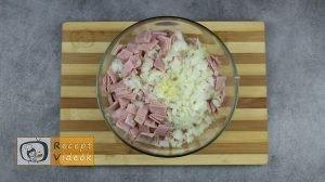 Sonkás-sajtos rizsgombóc recept, sonkás-sajtos rizsgombóc elkészítése 2. lépés