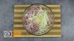 Sonkás-sajtos rizsgombóc recept, sonkás-sajtos rizsgombóc elkészítése 3. lépés