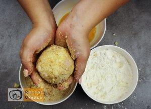 Sonkás-sajtos rizsgombóc recept, sonkás-sajtos rizsgombóc elkészítése 5. lépés